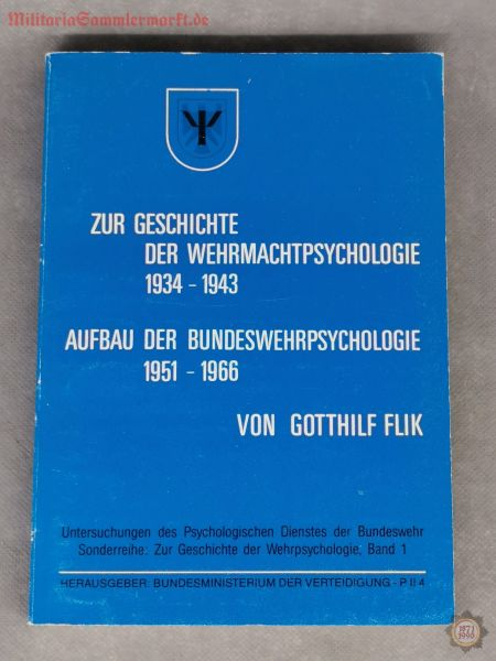 Untersuchungen des Psychologischen Dienstes der BW, Band 1, Gotthilf Flik, Buch