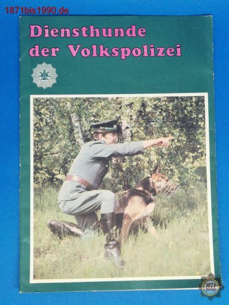 Prospekt: Diensthunde der Volkspolizei, DDR