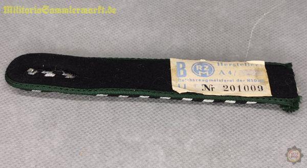 NSKK Schulterstück für Mannschaften, smaragdgrün mit RZM Etikett