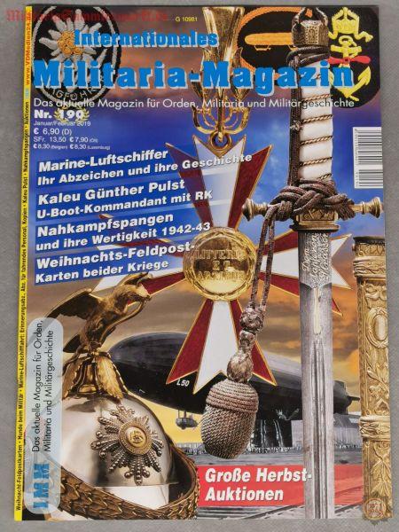 Internationales Militaria-Magazin, Nr. 190, Januar/Februar 2019, Zeitschrift