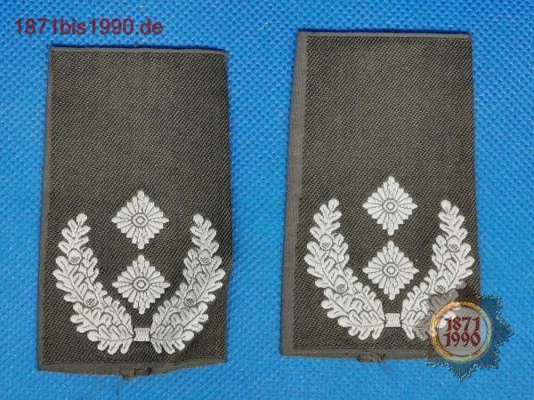 BW Rangschlaufen HEER, silber, Feldanzug, Oberstleutnant, Schulterklappen, Paar