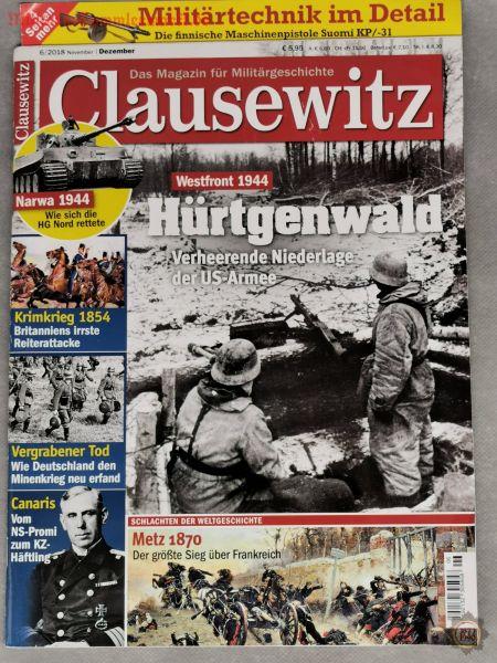 Clausewitz, Hürtgenwald 1944, Das Magazin für Militärgeschichte; 6/2018, Zeitschrift