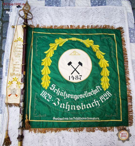 Fahne, Schützengesellschaft 1872 Jahnsbach 1928, Fahnenweihe & Weiheschießen 3.6.28