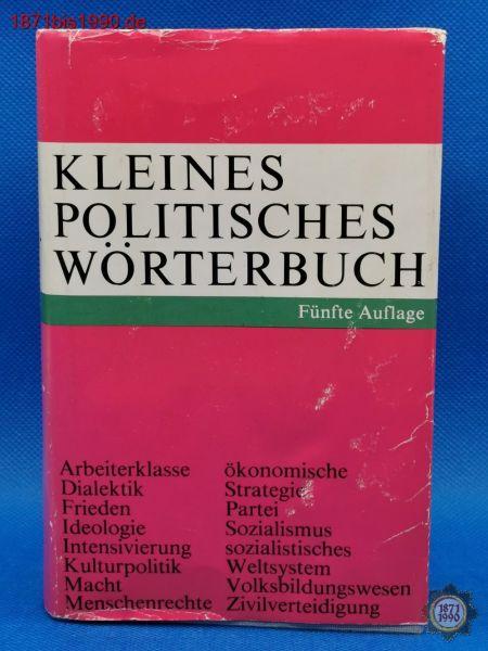 Buch: Kleines politisches Wörterbuch, DDR, Fünfte Auflage 1985