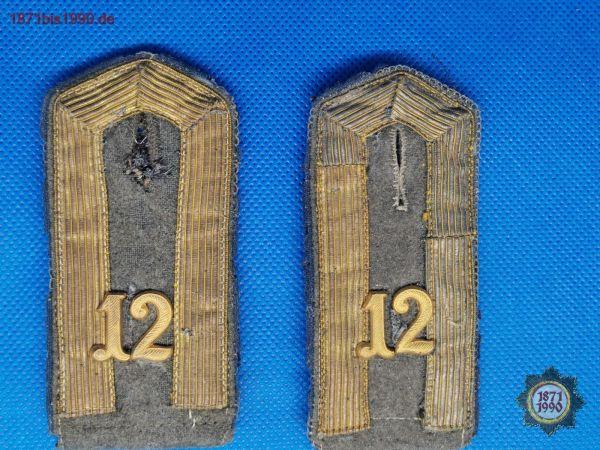 Schulterklappe, Offiziersstellvertreter 12. Infanterie-Regiment (IR Nr. 12, Reichswehr), 1. WK