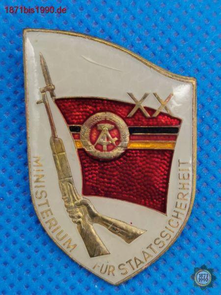 Abzeichen, XX Jahre, Ministerium für Staatssicherheit, MfS, 20 Jahre