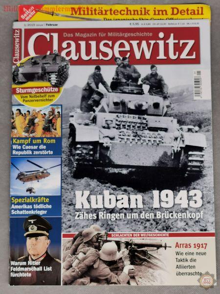 Clausewitz, Kuban 1943, Das Magazin für Militärgeschichte; 01/2019, Zeitschrift